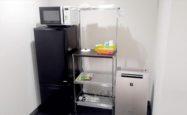 ぎふ就労支援センターの冷蔵庫・電子レンジ
